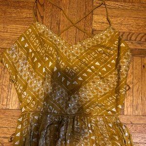 Strappy back tribal dress